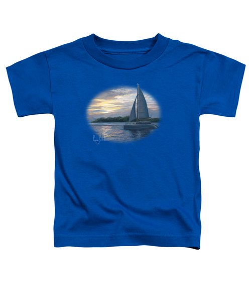 Sunset In Key West Toddler T-Shirt by Lucie Bilodeau