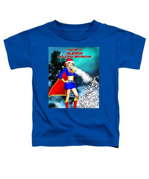 Supergirl Holiday Greeting Card Toddler T-Shirt