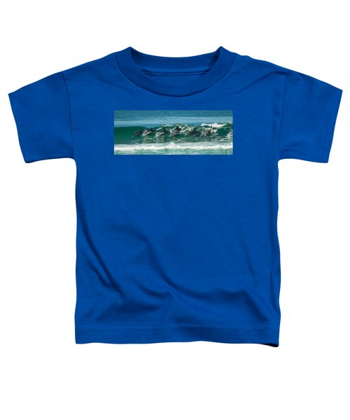 Surfing Dolphins 4 Toddler T-Shirt