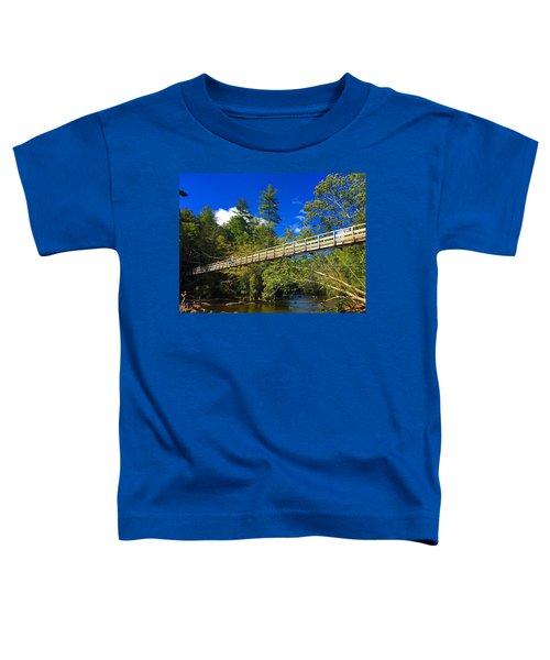 Toccoa River Swinging Bridge Toddler T-Shirt