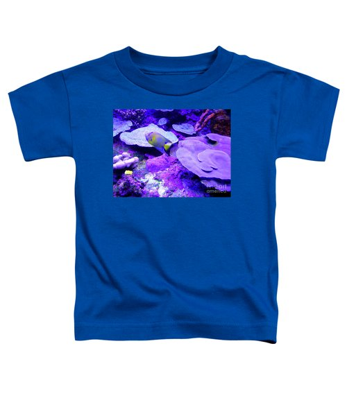 Toddler T-Shirt featuring the photograph Ta Purple Coral And Fish by Francesca Mackenney