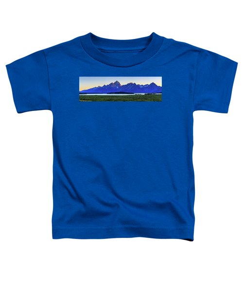 Teton Sunset Toddler T-Shirt by David Chandler