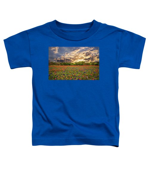 Texas Wildflowers Under Sunset Skies Toddler T-Shirt
