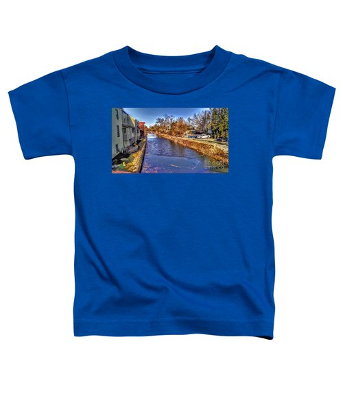 The Canal At New Hope In Winter Toddler T-Shirt