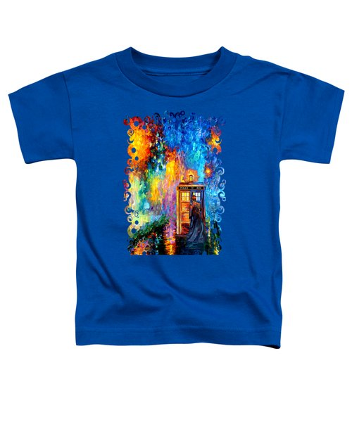 The Doctor Lost In Strange Town Toddler T-Shirt by Three Second