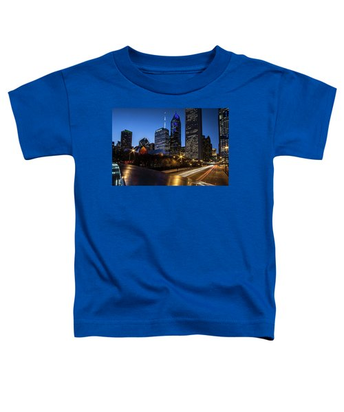 The East Side Skyline Of Chicago  Toddler T-Shirt