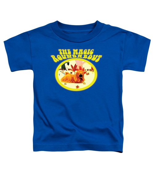 The Magic Roundabout Retro Design Hippy Design 60s And 70s Toddler T-Shirt by Paul Telling