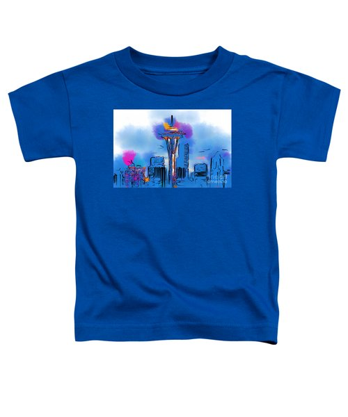 The Space Needle In Soft Abstract Toddler T-Shirt