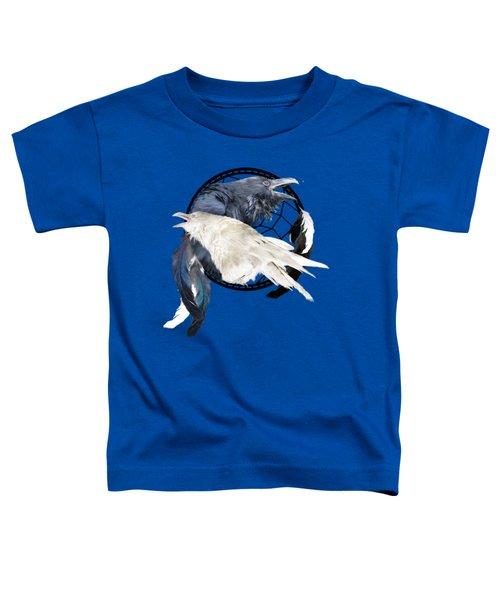The White Raven Toddler T-Shirt by Carol Cavalaris
