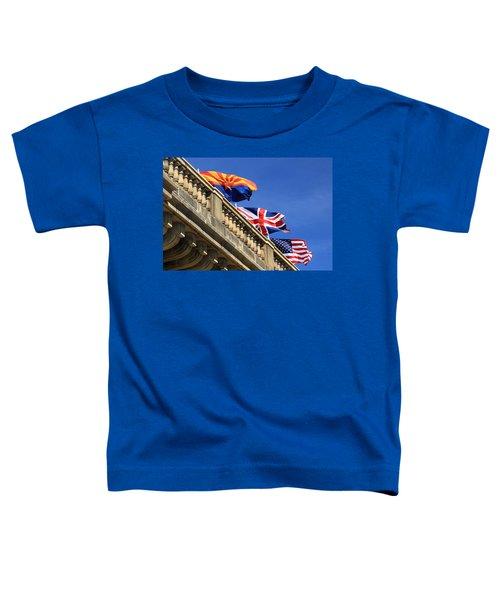 Three Flags At London Bridge Toddler T-Shirt