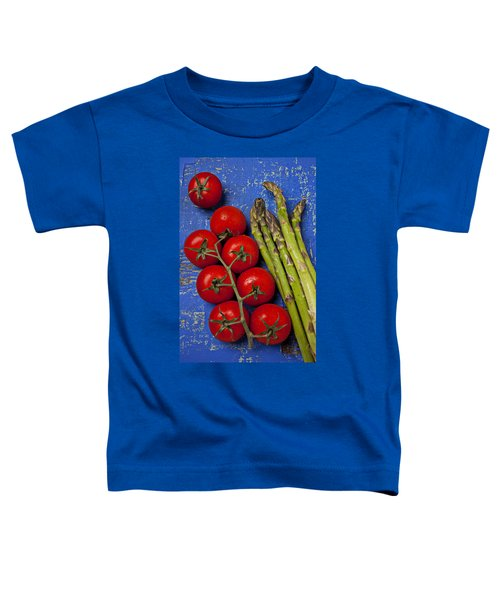 Tomatoes And Asparagus  Toddler T-Shirt by Garry Gay