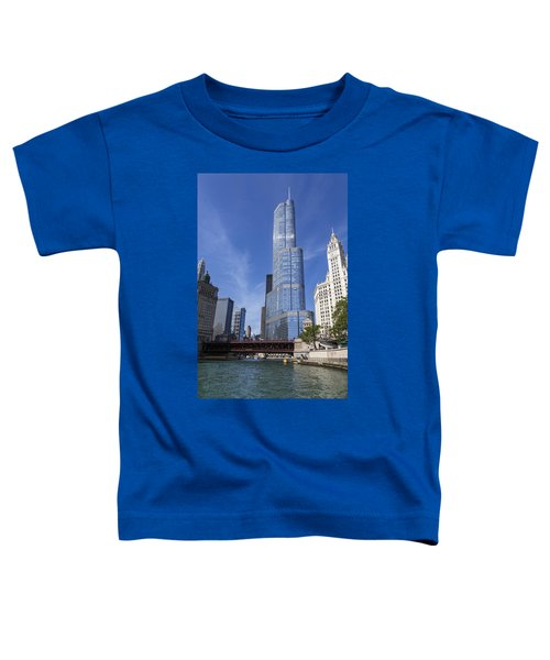 Trump Tower Chicago Toddler T-Shirt by Adam Romanowicz