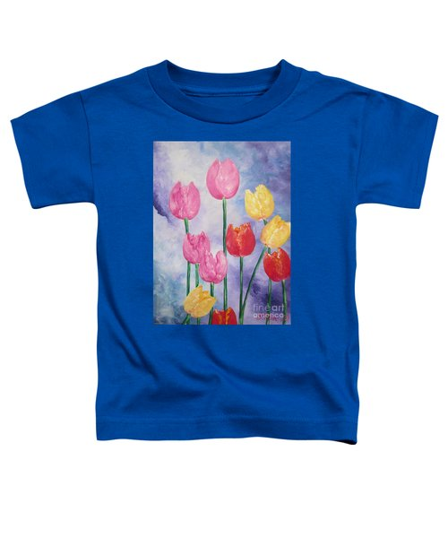 Ten  Simple  Tulips  Pink Red Yellow                                Flying Lamb Productions   Toddler T-Shirt