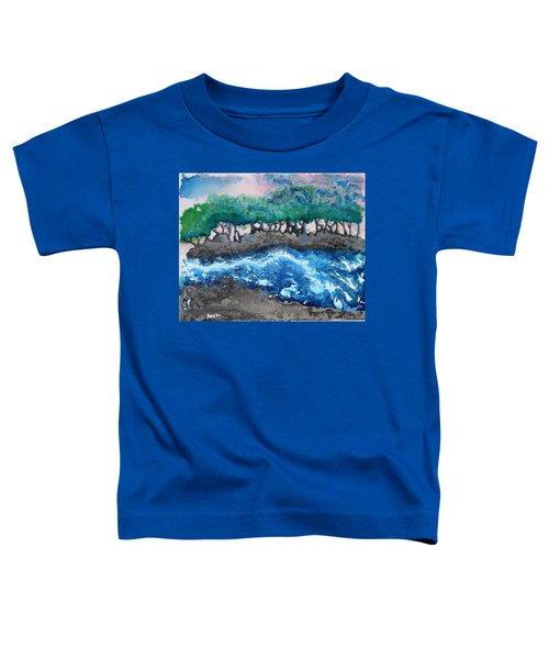 Toddler T-Shirt featuring the painting Turbulent Waters by Antonio Romero
