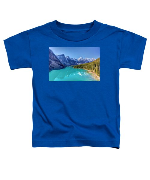 Turquoise Splendor Moraine Lake Toddler T-Shirt