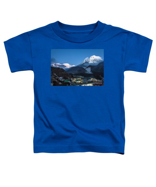 Twilight Over Pangboche In Nepal Toddler T-Shirt