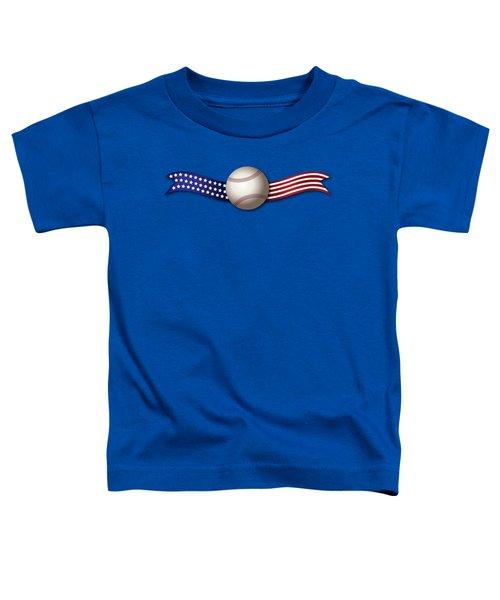 Usa Baseball Toddler T-Shirt