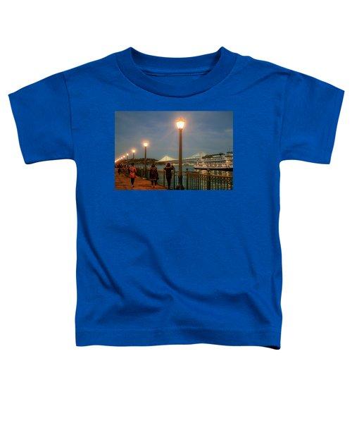 Viewing The Bay Bridge Lights Toddler T-Shirt
