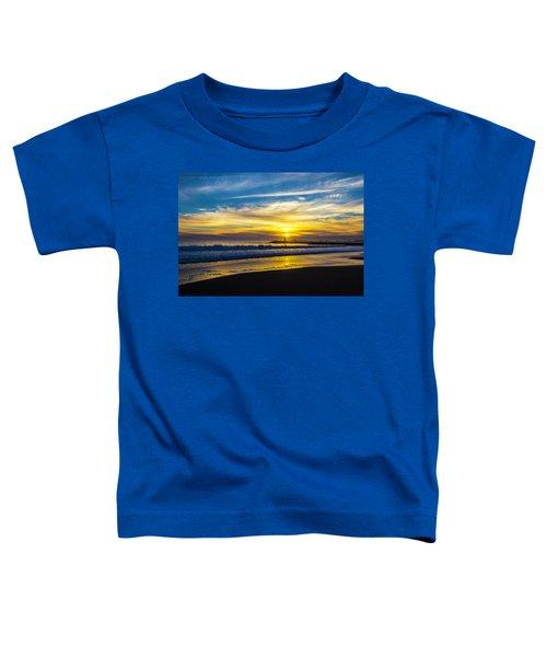 Walton Lighthouse Setting Sun Toddler T-Shirt