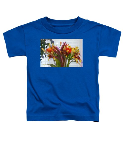 Warm Colored Flowers Toddler T-Shirt