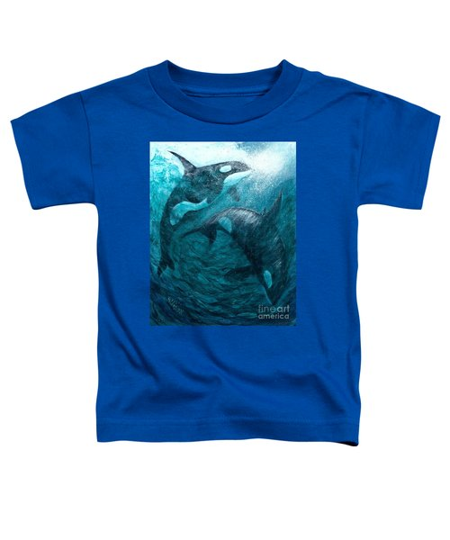 Whales  Ascending  Descending Toddler T-Shirt