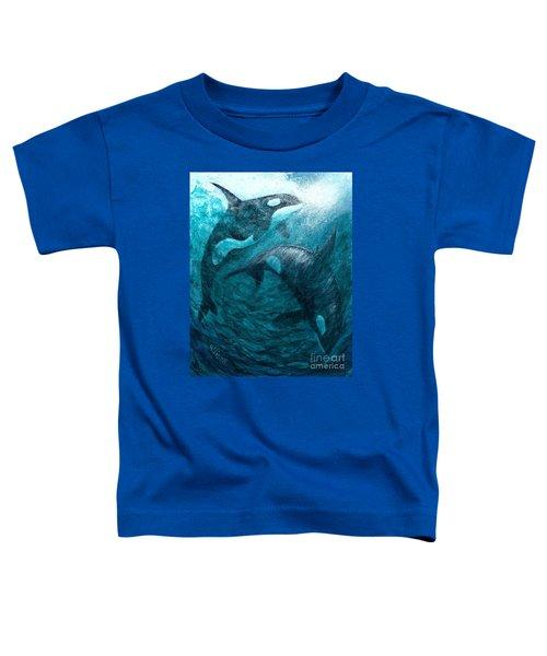 Whales  Ascending  Descending Toddler T-Shirt