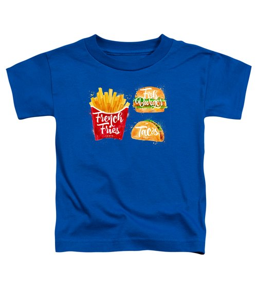 White French Fries Toddler T-Shirt by Aloke Creative Store