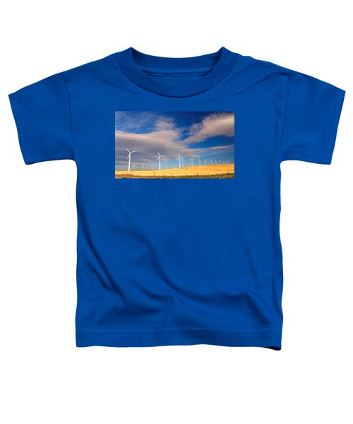 Wind Farm Against The Sky Toddler T-Shirt