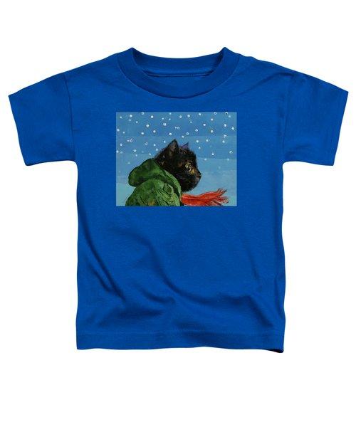 Winter Kitten Toddler T-Shirt