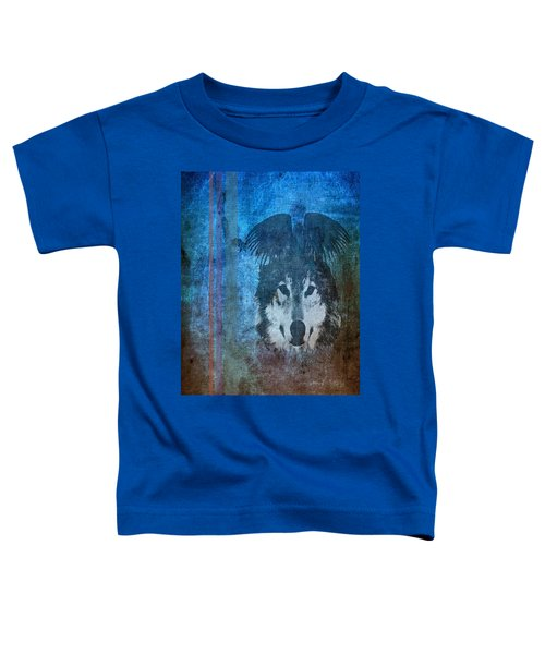 Wolf And Raven Toddler T-Shirt