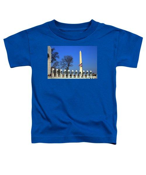 World War II Memorial And Washington Monument Toddler T-Shirt