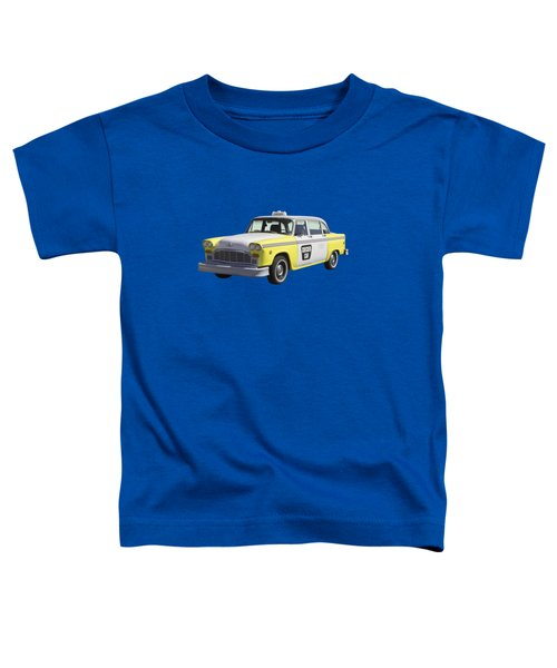 Yellow And White Checker Cab Toddler T-Shirt