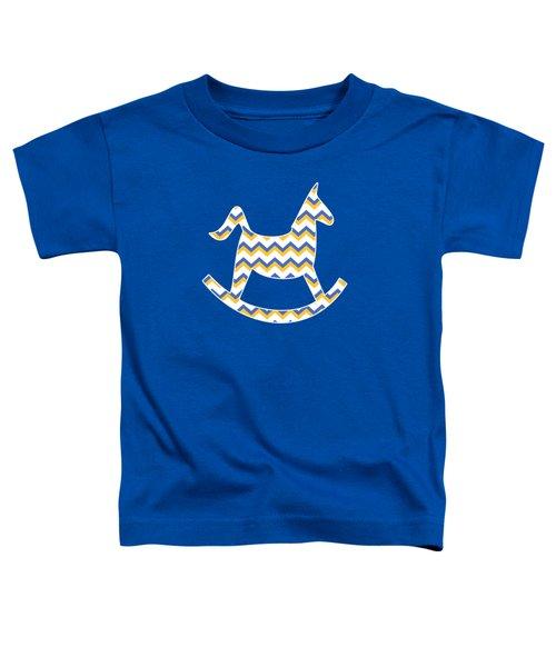 Yellow Blue Chevron Pattern Toddler T-Shirt