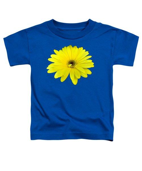 Yellow Daisy Flower By Delynn Addams Toddler T-Shirt