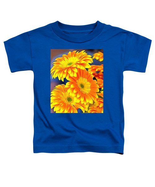 Yellow Flowers In Thick Paint Toddler T-Shirt