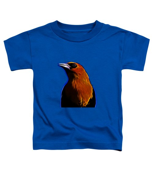 Yellow Headed Blackbird Toddler T-Shirt by Shane Bechler