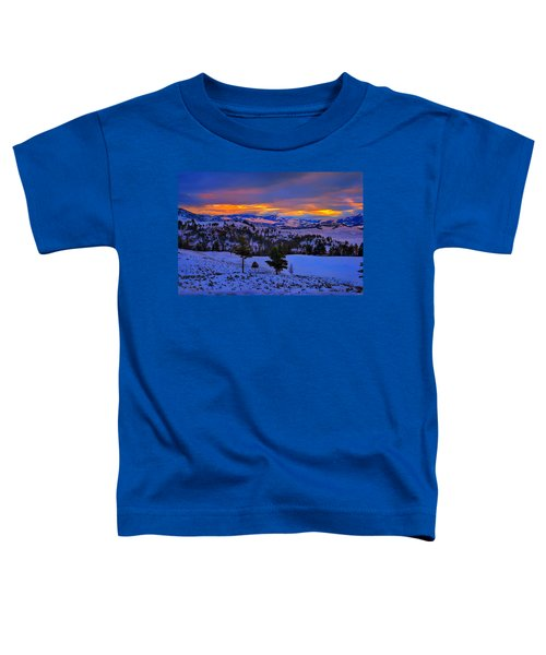 Toddler T-Shirt featuring the photograph Yellowstone Winter Morning by Greg Norrell