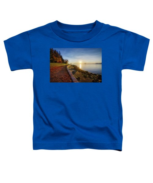 Colorful Autumn Sunrise At Stanley Park Toddler T-Shirt
