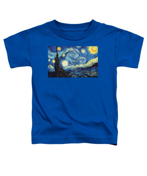 Starry Night By Van Gogh Toddler T-Shirt