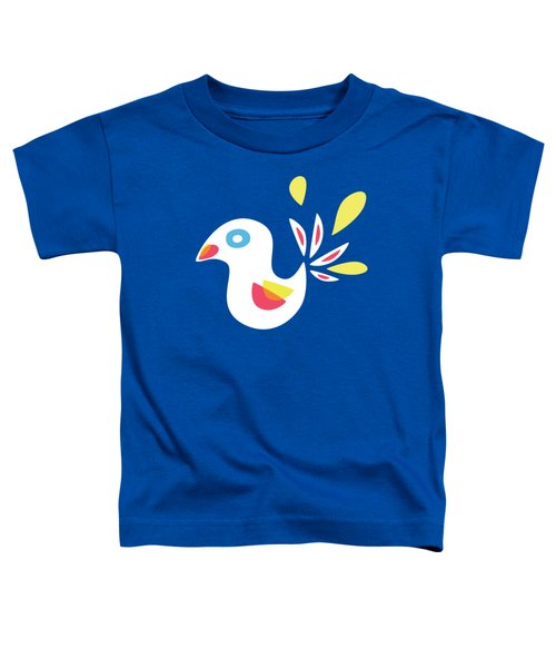 Abstract Bird In Spring Toddler T-Shirt