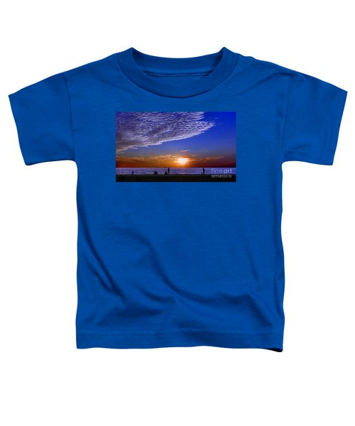 Beautiful Sunset With Ships And People Toddler T-Shirt
