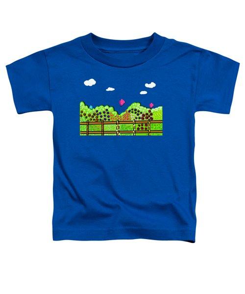 Butterflies And Flowers Toddler T-Shirt