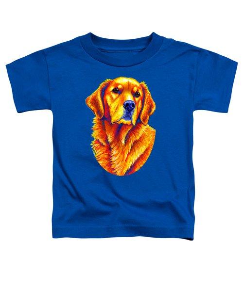 Colorful Golden Retriever Dog Toddler T-Shirt