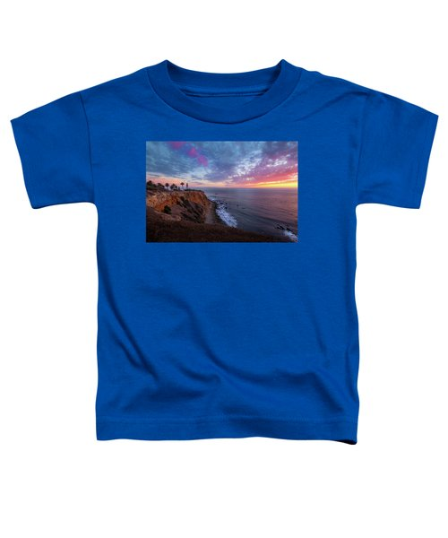 Colorful Sky After Sunset At Point Vicente Lighthouse Toddler T-Shirt