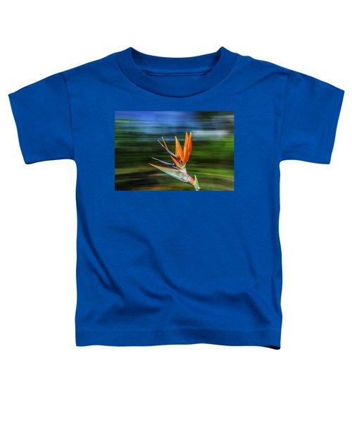 Flying Bird Of Paradise Toddler T-Shirt