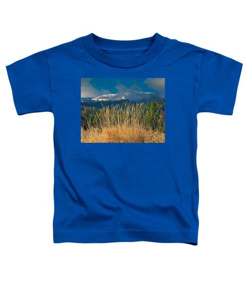 Gold Grass Snowy Peak Toddler T-Shirt