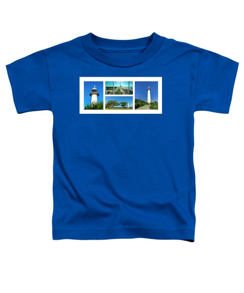 Grand Old Lighthouse Biloxi Ms Collage A1a Toddler T-Shirt