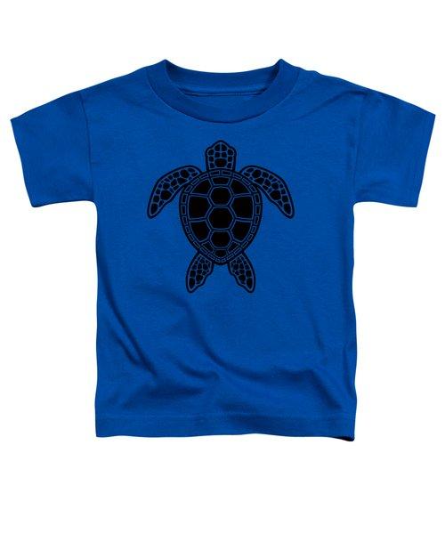 Green Sea Turtle Design - Black Toddler T-Shirt
