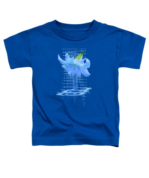 In The Cool Of The Night 3 - Blue Amaryllis Toddler T-Shirt