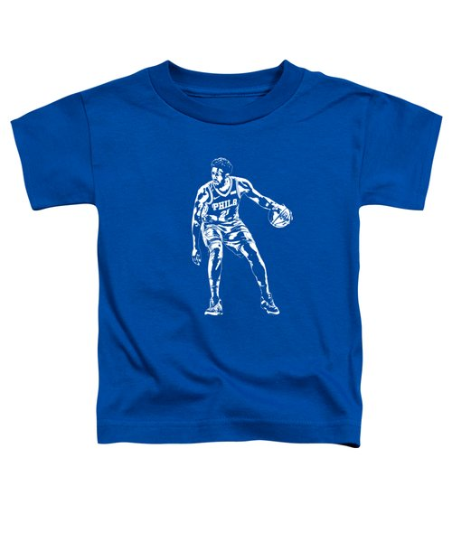 Joel Embiid Philadelphia 76ers T Shirt Apparel Pixel Art 2 Toddler T-Shirt